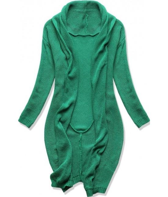 a4356e103e8b Dámsky dlhý sveter kardigan MODAS01 zelený - Dámske oblečenie ...