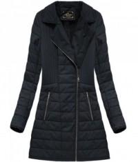 Dámska zimná bunda z eko-kože MODA520BIG čierna