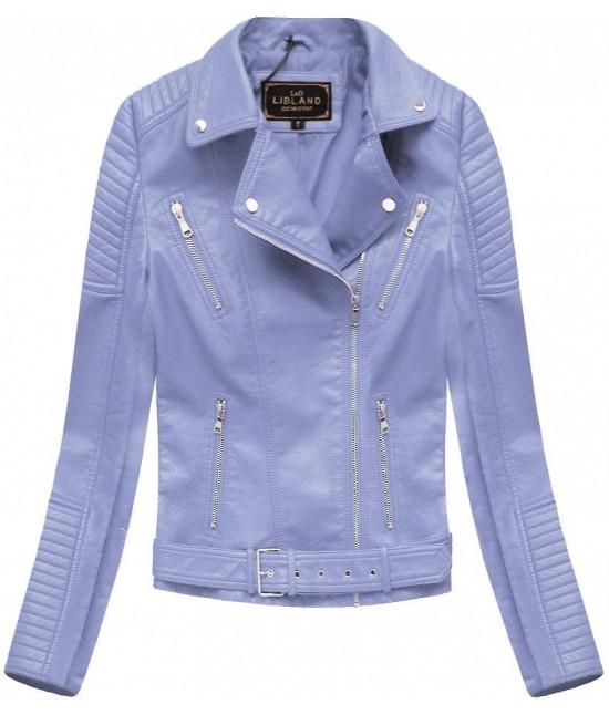 Dámska koženková bunda MODA378 fialová