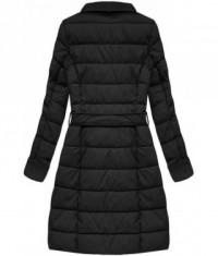 Dámska zimná bunda z eko-kože MODA527BIG čierna