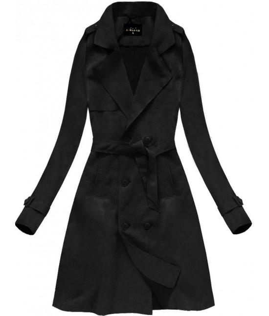 5c149b45e27ae Dámska zamatový prechodný kabát MODA003 čierny - Dámske oblečenie ...