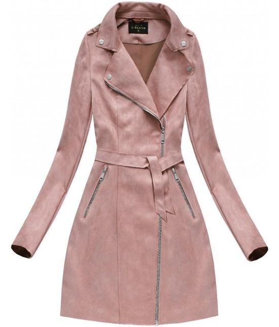 cb15dabb83749 Dámsky zamatový kabát 6004BIG staroružový - Dámske oblečenie ...