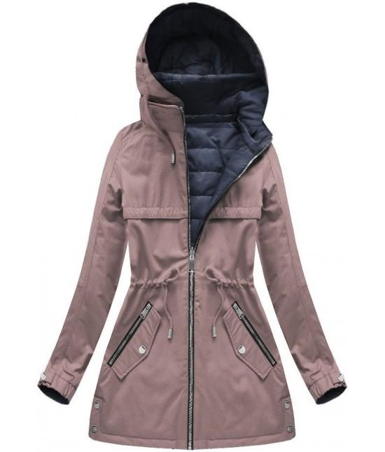 Dámska obojstranná jesenná bunda W625/1 staroružová