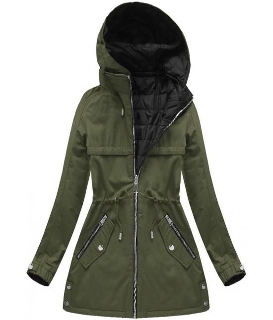 Dámska obojstranná jesenná bunda W625/1 khaki