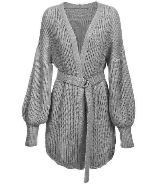 Dámsky sveter kardigan 123ART svetlošedý