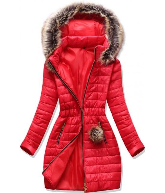 Dámska jesenná bunda MODA1298 červená