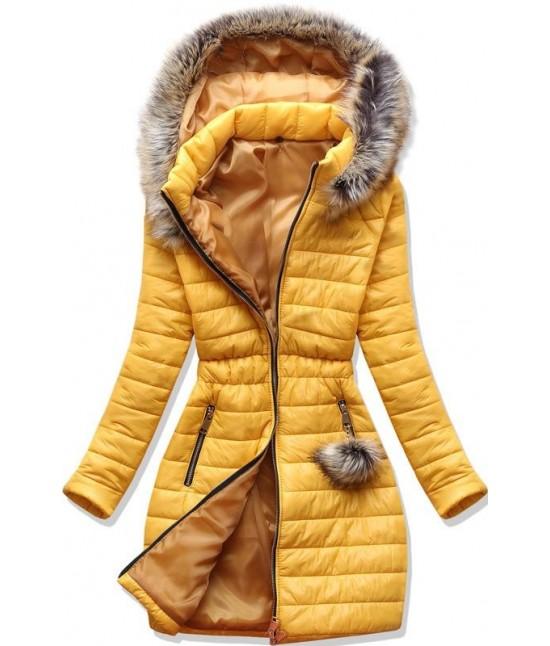 Dámska jesenná bunda MODA1298 žltá