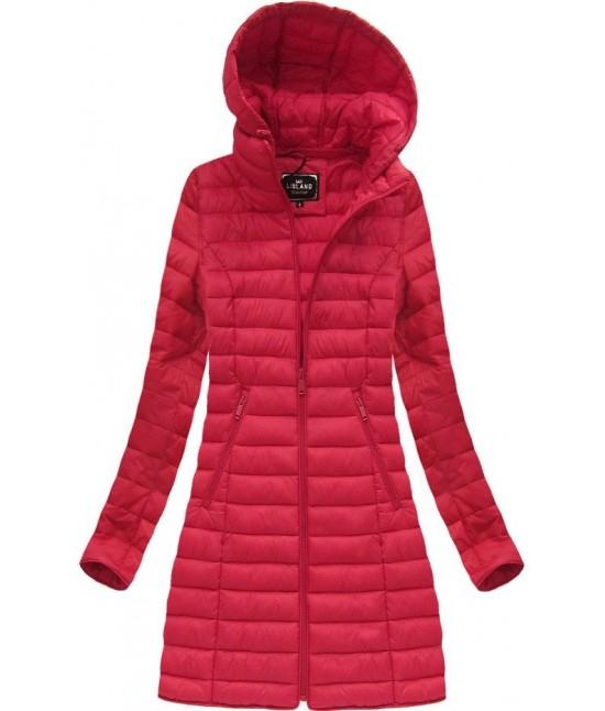 Dámska dlhá prechodná bunda MODA235BIG červená