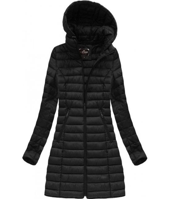 Dámska dlhá prechodná bunda MODA235BIG čierna