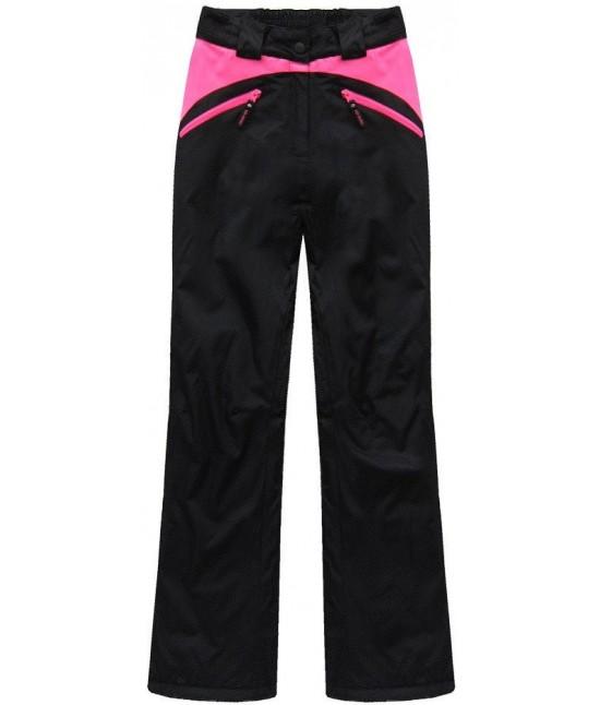 3571f183c Dámska lyžiarske/snowboardové nohavice MODA189 čierno-ružové ...