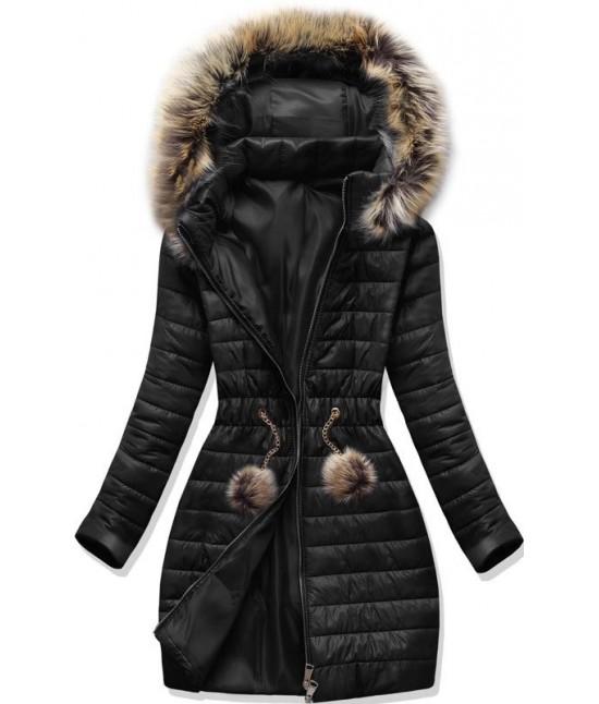 Dámska jesenná bunda MODA1309 čierna  XL