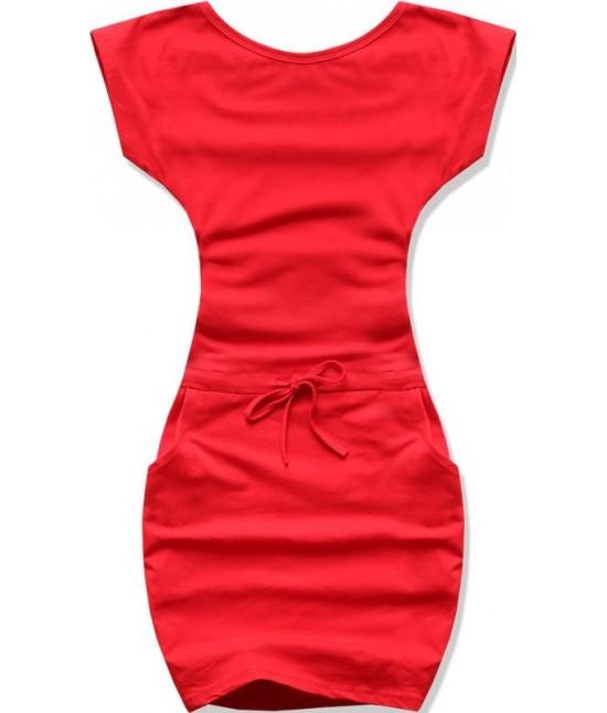 Dámske šaty MODA015 červené veľkosť L