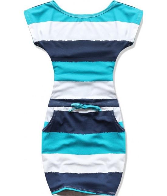 Dámske letné šaty MODA478DP modré veľkosť M