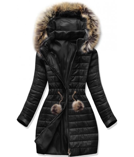 Dámska jesenná bunda MODA1309 čierna S