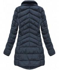 b3cbcfa6be Prešívaná dámska zimná bunda MODA059 tmavomodrá - Dámske oblečenie ...