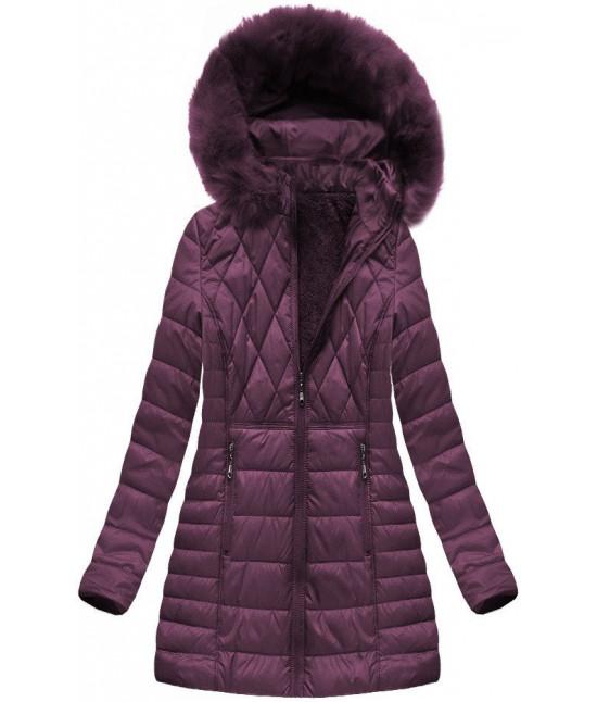 348e4616f784 Dámska zimná bunda MODA022BIG fialová - Dámske oblečenie