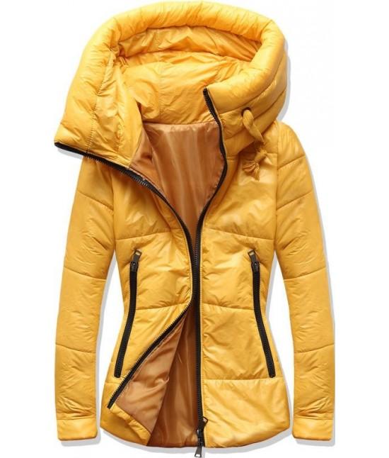 Dámska jesenná bunda MODA1615 žltá XL
