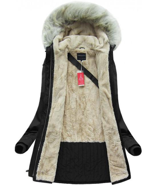 Teplá dámska zimná bunda MODA088 čierna - Dámske oblečenie  3f80b151e48