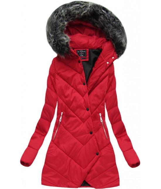 Dámska zimná bunda MODA1758 červená - Dámske oblečenie  552354e86d0