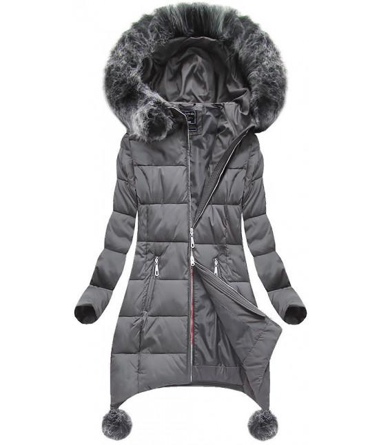 Dámska zimná bunda 6788 šedá - Dámske oblečenie  9ffb8041578