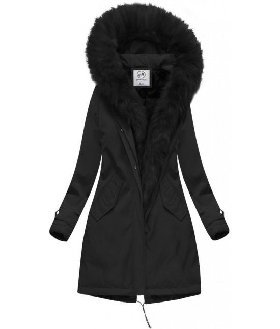 91ba8842f Teplá dámska zimná bunda MODA444 čierna - Dámske oblečenie | jejmoda.sk