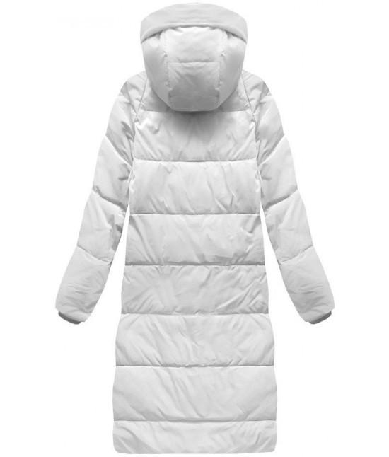 68a5afaef5b1 Dámska dlhá zimná bunda MODA118 biela - Dámske oblečenie