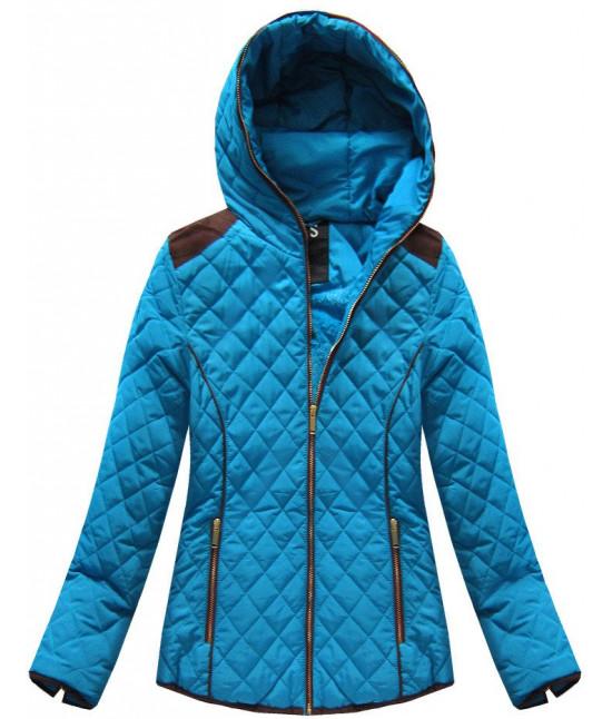 Dámska prešívaná prechodná bunda moda102 modrá