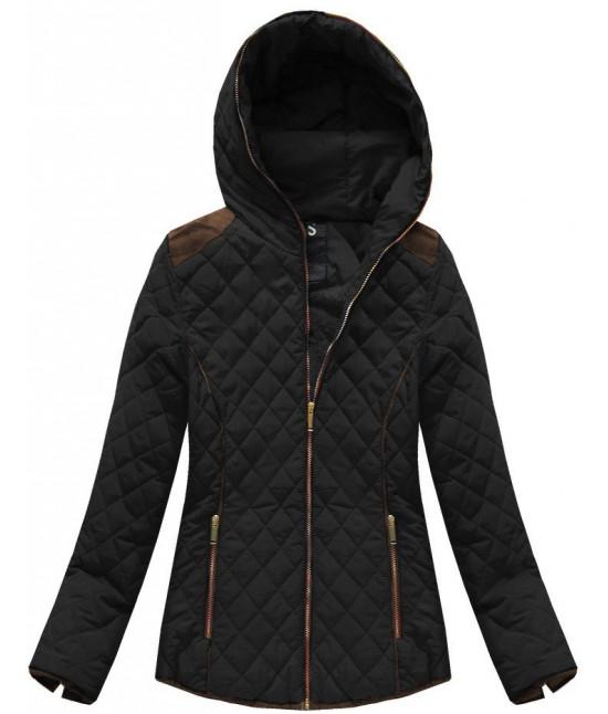 Dámska prešívaná prechodná bunda moda102 čierna