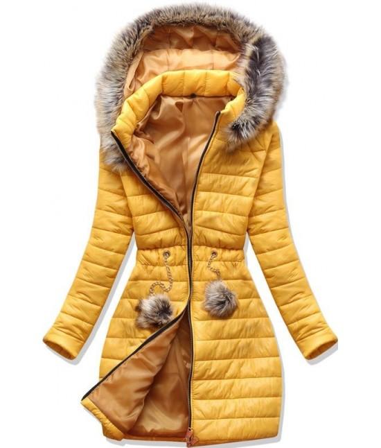 Dámska jesenná bunda MODA1309 žltá S
