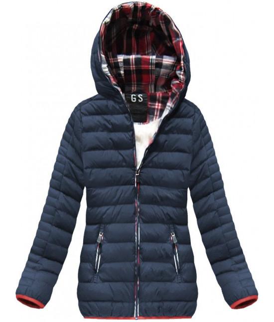 ... Krátka dámska zimná bunda MODA177 tmavomodrá. kratka-damska-zimna-bunda -moda177-tmavomodra b45d1cc1cd5