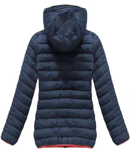 Krátka dámska zimná bunda MODA177 tmavomodrá - Dámske oblečenie ... d0e55efefa7