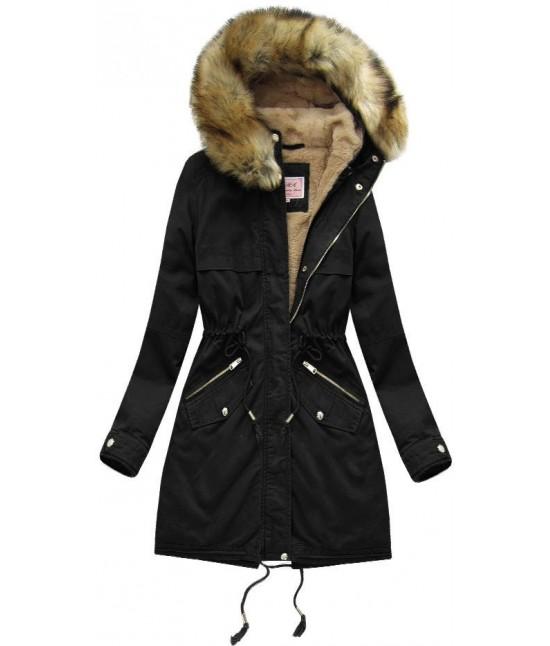 afb9cc82c26c Dámska zimná bunda parka MODA166-1 čierna veľkosť XS - Dámske ...