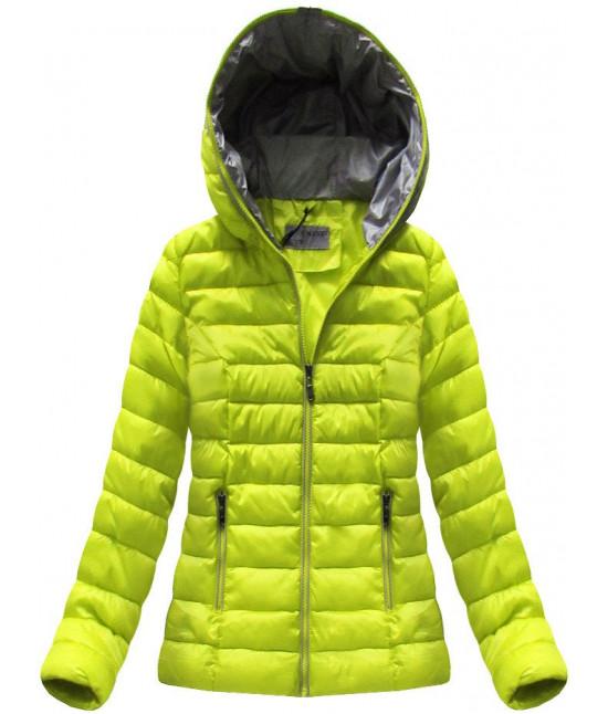 Krátka dámska prechodná bunda MODA013 limetková