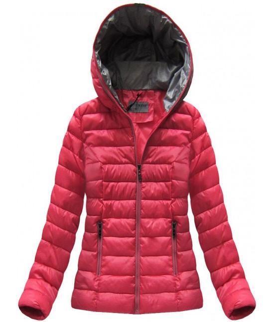 Krátka dámska prechodná bunda MODA013 červená