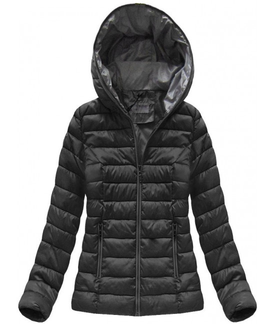 Krátka dámska prechodná bunda MODA013 čierna