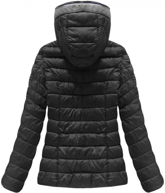 Krátka dámska prechodná bunda MODA013 čierna - Dámske oblečenie ... 919dfbe494d