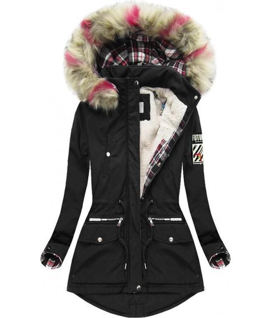 Dámska zimná bunda 39908 čierna veľkosť S - Dámske oblečenie ... 4ea71823f0d