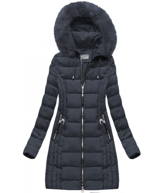 f41069ea6a42b Dámska zimná bunda MODA057BIG modrá veľkosť 5XL - Dámske oblečenie |  jejmoda.sk