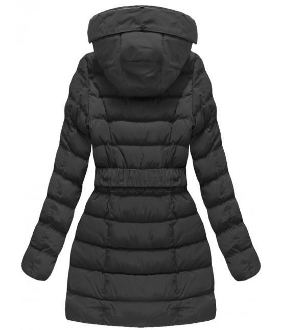 313d54f98f66 ... Dámska zimná bunda s opaskom MODA811 čierna veľkosť XXL ...