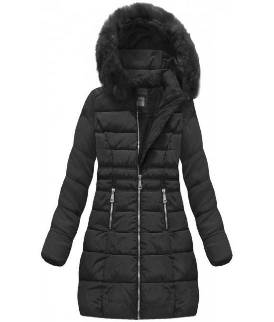 Dámska prešívaná zimná bunda  MODA1052 čierna