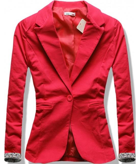 Dámske sako MODA097 červené veľkosť M
