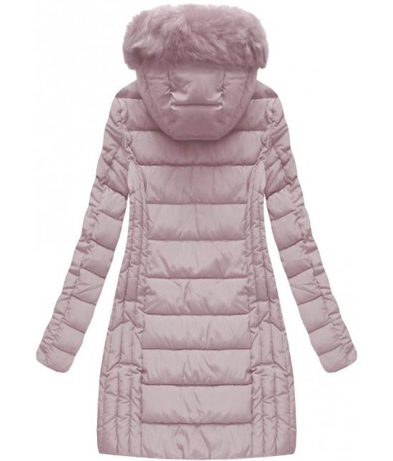 e1c52fab2b Dámska zimná bunda MODA057BIG ružová veľkosť 6XL - Dámske oblečenie ...