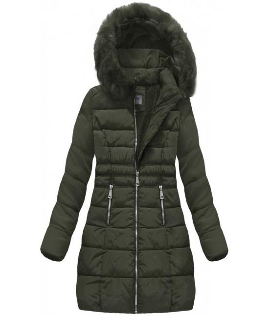 Dámska prešívaná zimná bunda  MODA052 khaki
