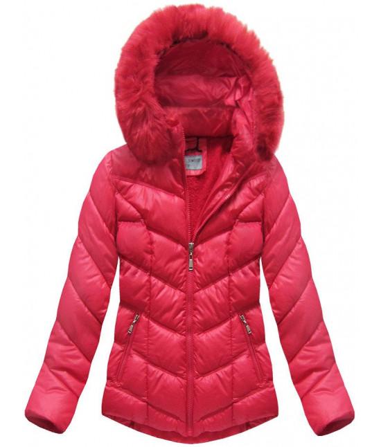 Dámska prešívaná zimná bunda MODA038-AB červená