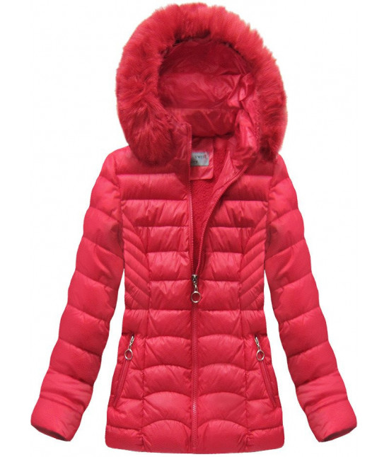 Dámska prešívaná zimná bunda MODA036 červená