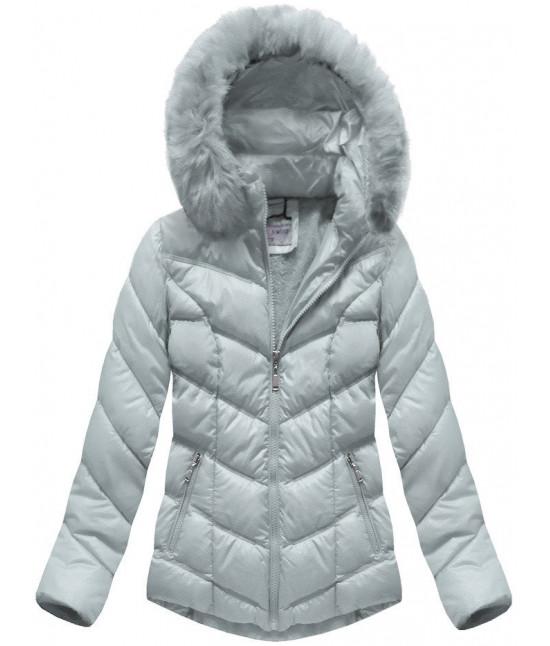 Dámska prešívaná zimná bunda MODA038-AB šedá