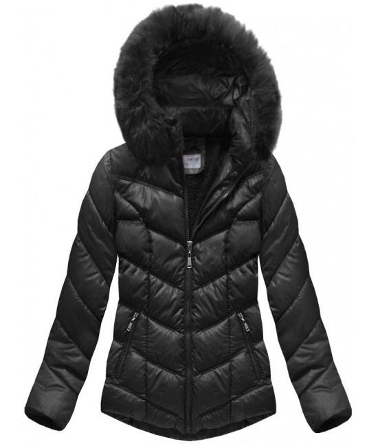 Dámska prešívaná zimná bunda MODA038-AB čierna