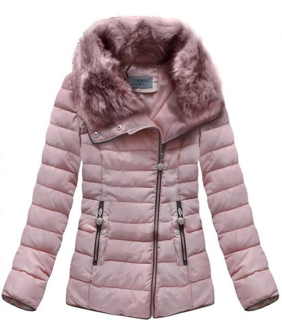Prešívaná dámska zimná bunda MODA058 staroružová