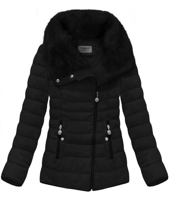 Prešívaná dámska zimná bunda MODA058 čierna