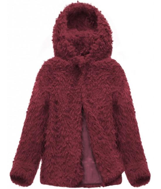 Dámsky kabát MODA154 bordový
